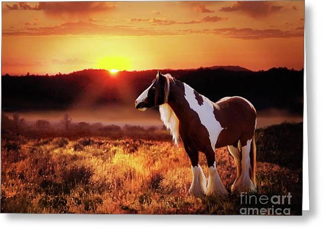 Greeting Card featuring the digital art Gypsy Sunset by Melinda Hughes-Berland