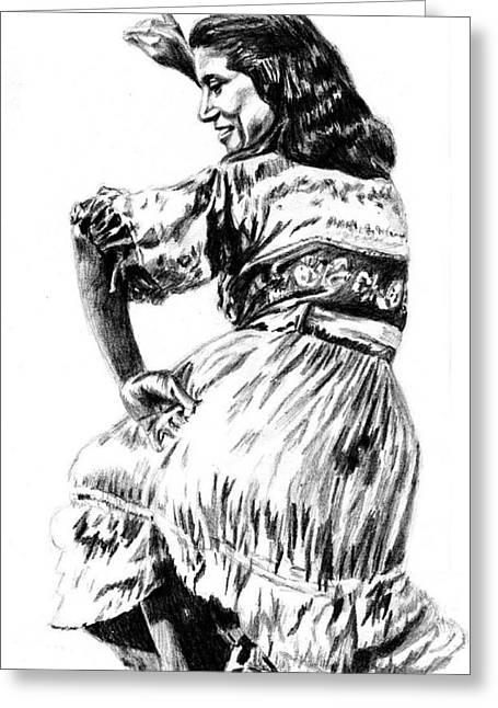 Gypsy Woman Greeting Card