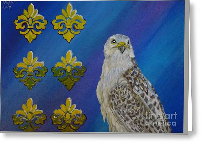 Gyr Falcon Greeting Card by Isabel Proffit