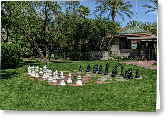 Greeting Card featuring the photograph H D R Chess At The Biltmore by Aimee L Maher Photography and Art Visit ALMGallerydotcom