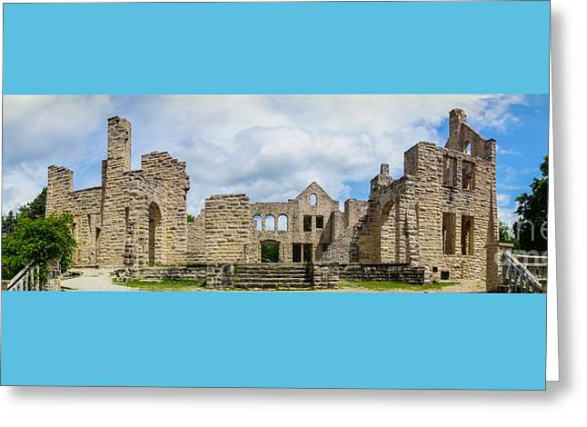 Ha Ha Tonka Castle Panorama Greeting Card