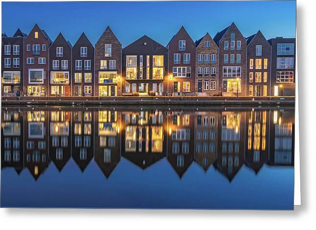 Haarlem 50/50 Greeting Card by Reinier Snijders