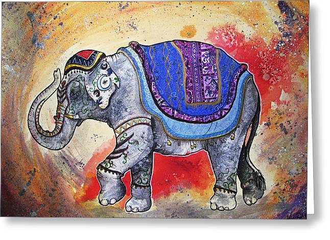 Haathi  Greeting Card by Sydney Gregory
