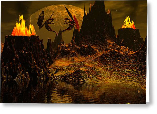 Habitation Of Dragons Greeting Card by Claude McCoy