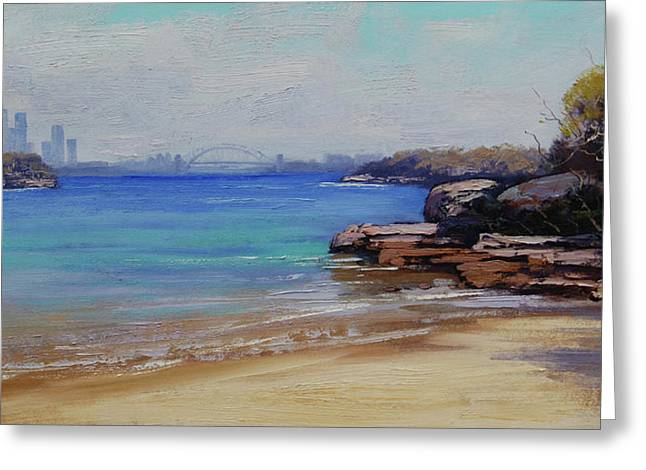 Habour Beach Sydney Greeting Card