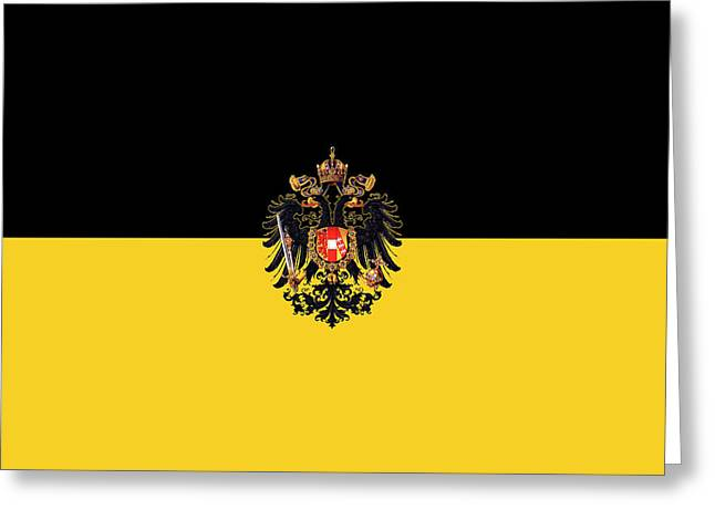 Habsburg Flag With Imperial Coat Of Arms 3 Greeting Card
