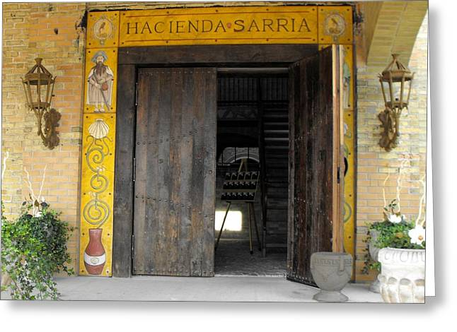 Hacienda Sarria Greeting Card by David and Lynn Keller