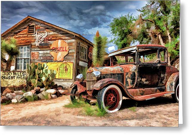 Route  66 Hackberry General Store Greeting Card