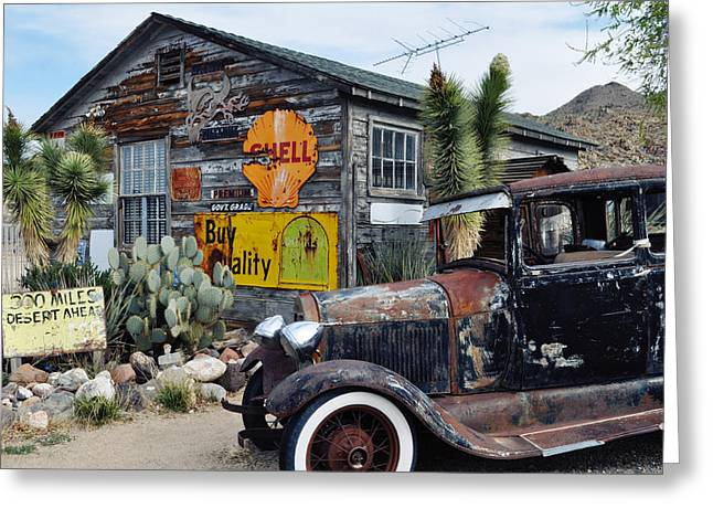 Hackberry Route 66 Auto Greeting Card