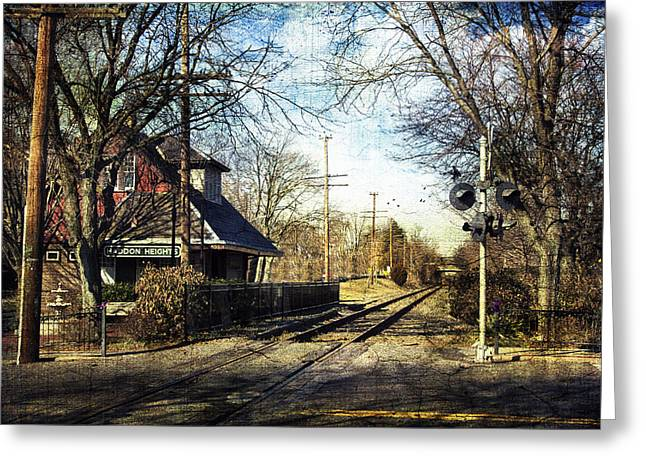 Haddon Heights Train Station Greeting Card