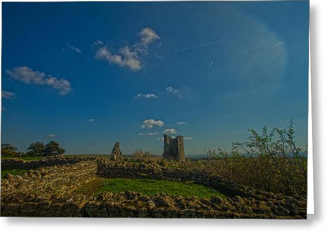 Hadleigh Castle Greeting Card by David French