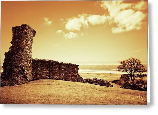 Hadleigh Castle Greeting Card by Joseph Westrupp