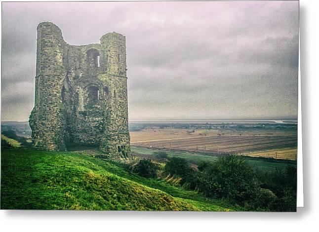 Hadleigh Castle Greeting Card by Martin Newman