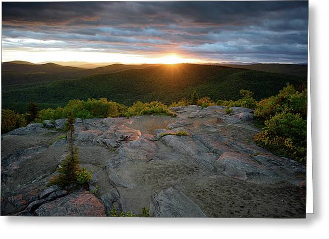 Hadley Mountain Sunset Greeting Card