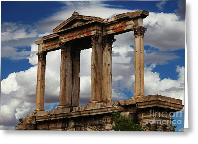 Arch Of Hadrian Athens Greeting Card
