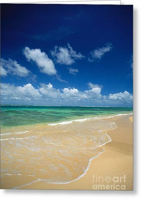 Haena Beach Greeting Card by Greg Vaughn - Printscapes