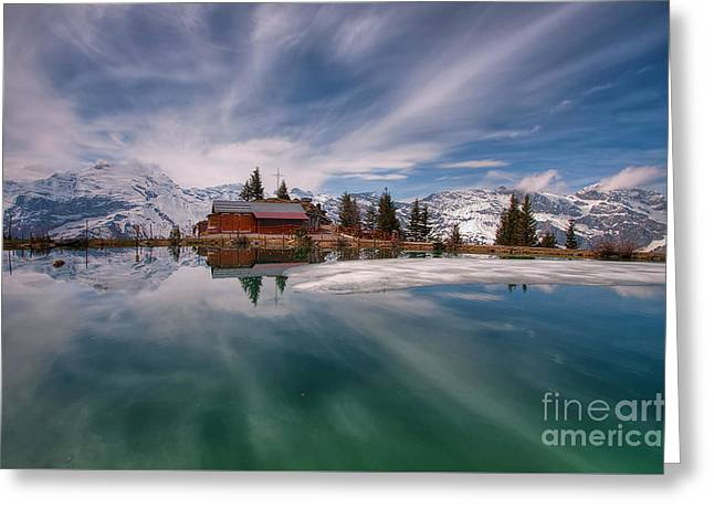 Haerzlisee Engelberg Greeting Card