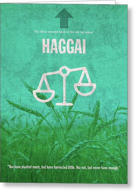 Haggai Books Of The Bible Series Old Testament Minimal Poster Art Number 37 Greeting Card by Design Turnpike