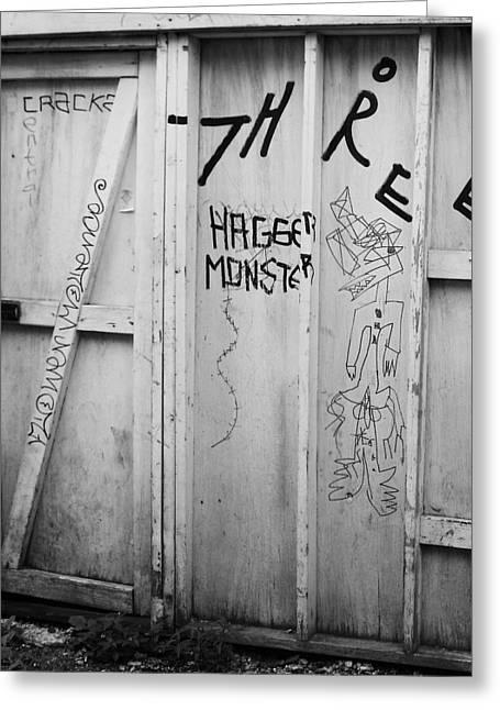 Hagger Monster Greeting Card by Anna Villarreal Garbis
