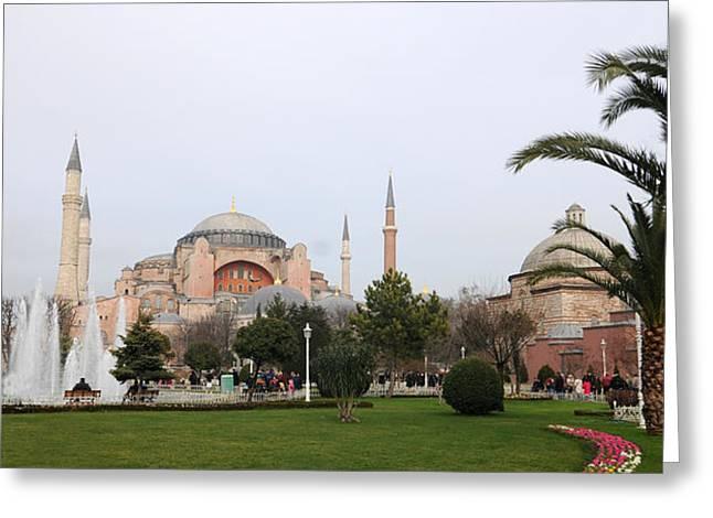 Hagia Sophia Greeting Card by Niyazi Ugur Genca
