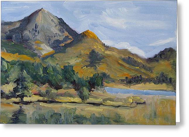 Hahns Peak From Rainbow Point Steamboat Lake State Park Colorado Greeting Card by Zanobia Shalks