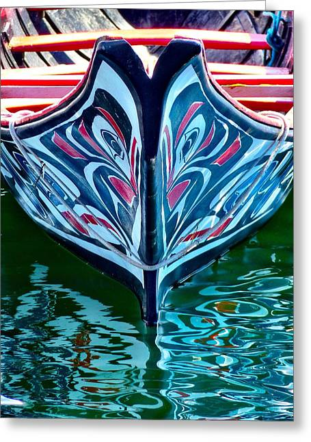Greeting Card featuring the photograph Haida Canoe by Rand