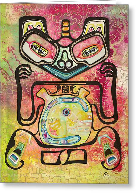Haida Greeting Card