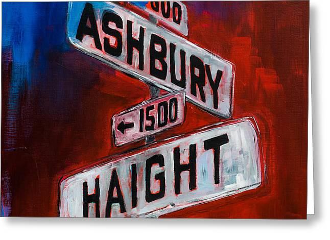 Haight And Ashbury Greeting Card