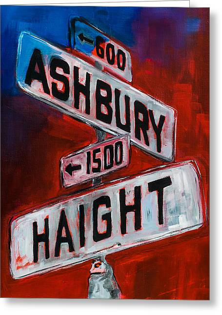 Haight And Ashbury Greeting Card by Elise Palmigiani