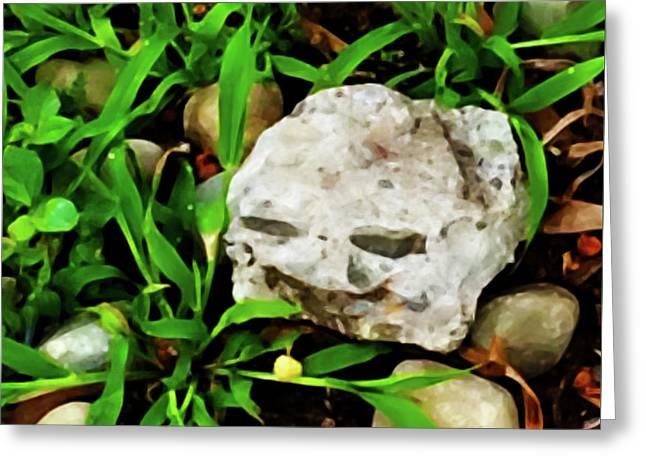Haight Ashbury Smiling Rock Greeting Card