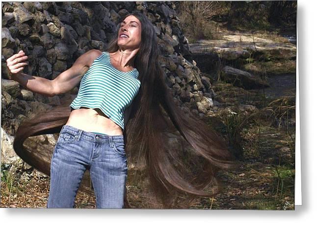 Hair - Long Beautiful Hair-pop Song Art Greeting Card