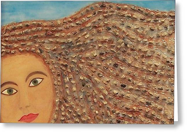 Hair Greeting Card by Anneliese Fritts