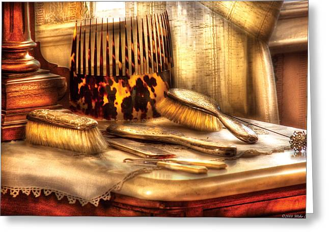 Hair Dresser - Implements  Of Hair Care  Greeting Card by Mike Savad
