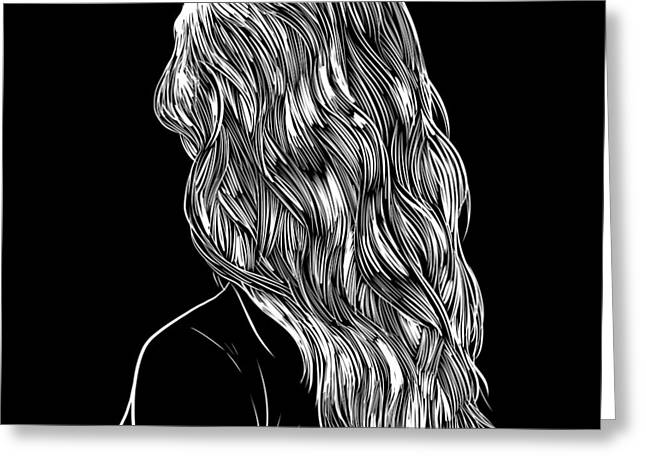 Hair In Black Greeting Card