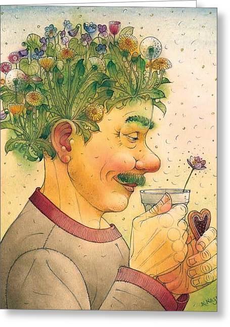 Hair Greeting Card by Kestutis Kasparavicius