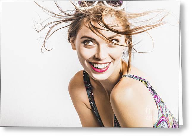 Hair Salon Portrait Greeting Card