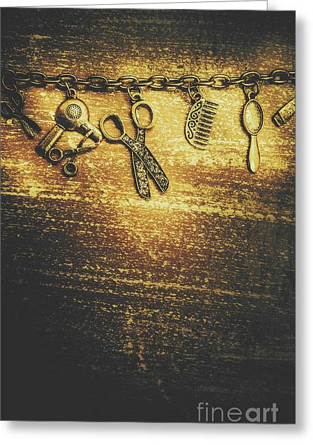 Hairdressing Beauty Salon Background Greeting Card by Jorgo Photography - Wall Art Gallery