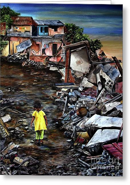 Haiti Out Of The Rubble Hope Greeting Card by Anna-Maria Dickinson
