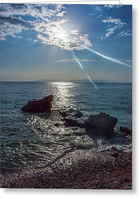 Haitian Beach In The Late Afternoon Greeting Card