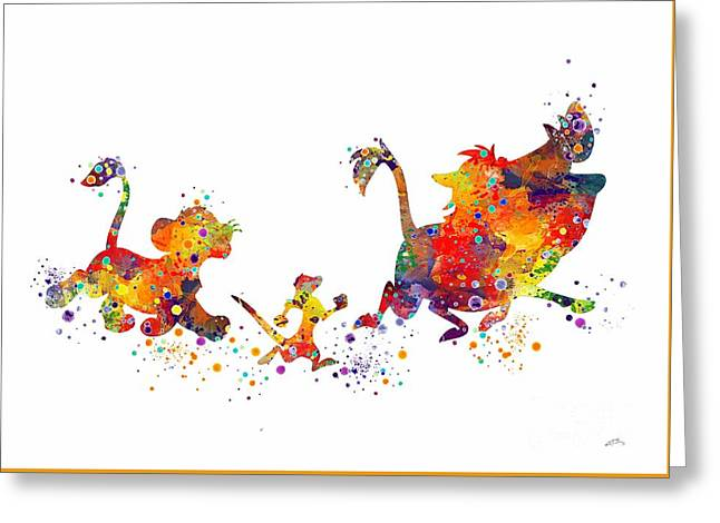 Hakuna Matata 2 Watercolor Art Print  Greeting Card by Svetla Tancheva