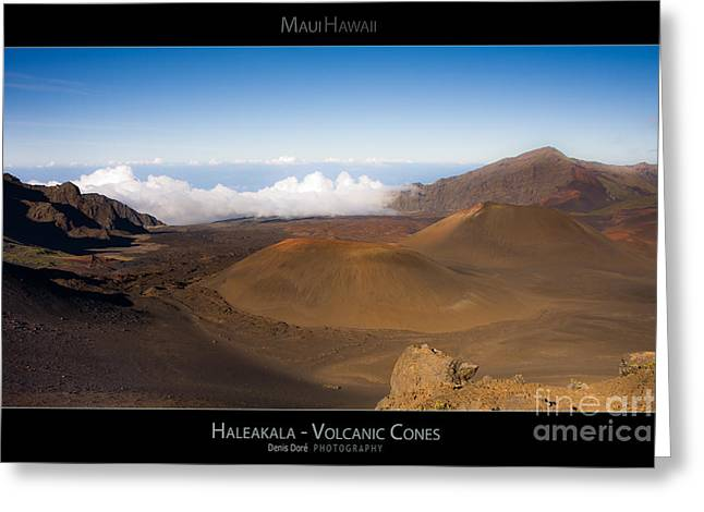 Haleakal Volcanic Cones - Maui Hawaii Posters Series Greeting Card by Denis Dore
