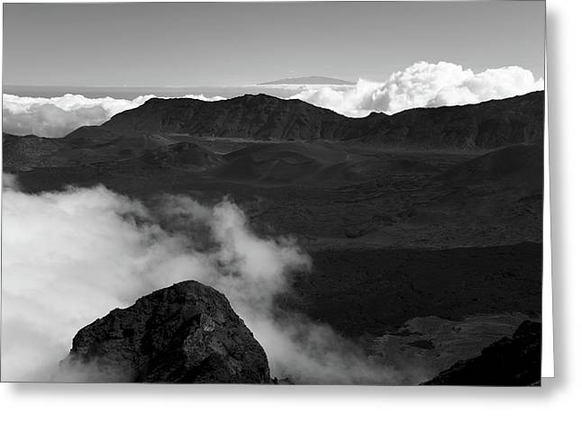 Haleakala B/w Greeting Card