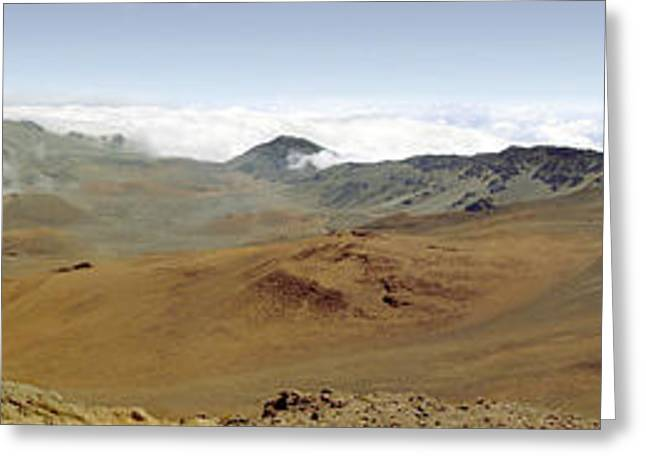 Haleakala Crater Panorama Greeting Card by Peter J Sucy