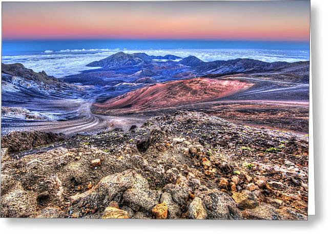 Greeting Card featuring the photograph Haleakala Crater Sunset Maui II by Shawn Everhart