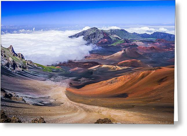Haleakala Craters Maui Greeting Card by Janis Knight