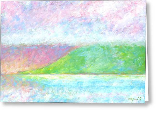 Greeting Card featuring the painting Haleakala Dawn by Angela Treat Lyon