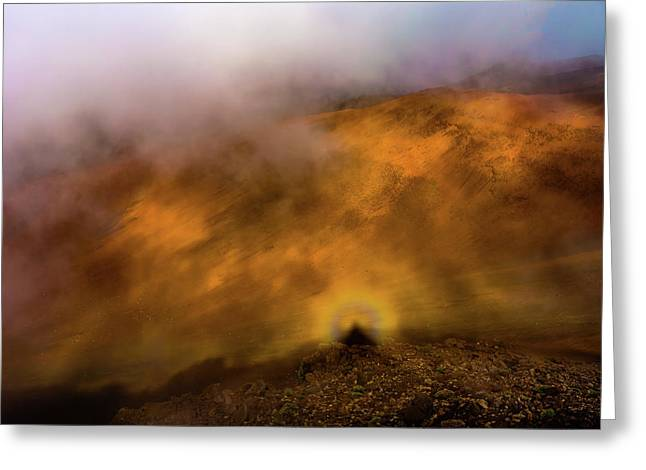 Greeting Card featuring the photograph Haleakala Halo by M G Whittingham