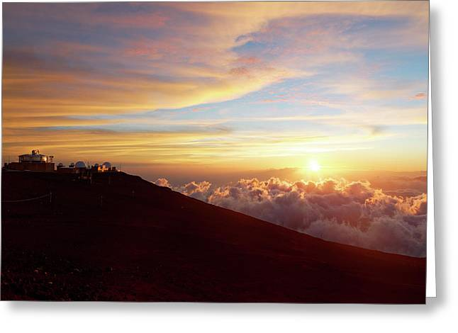Haleakala Observatory Greeting Card