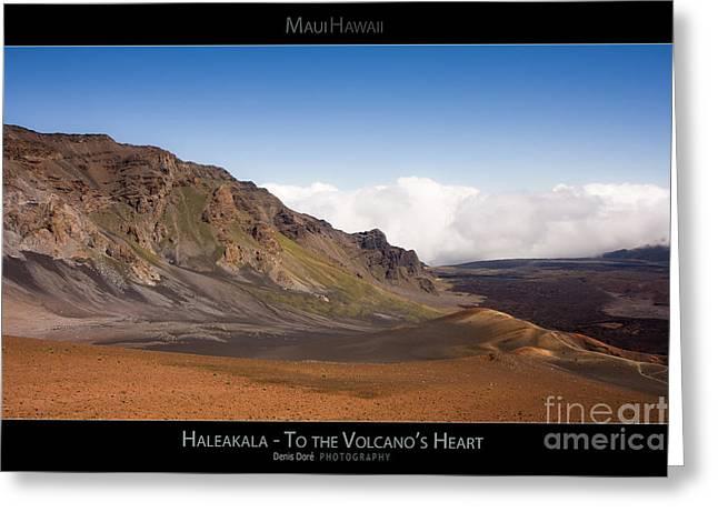 Haleakala To The Volcano's Heart - Maui Hawaii Posters Series Greeting Card by Denis Dore