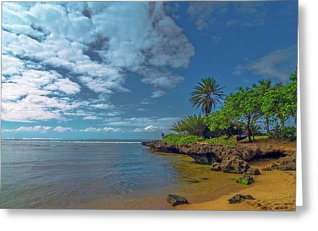 Haleiwa Beach Greeting Card by Bob Juarez
